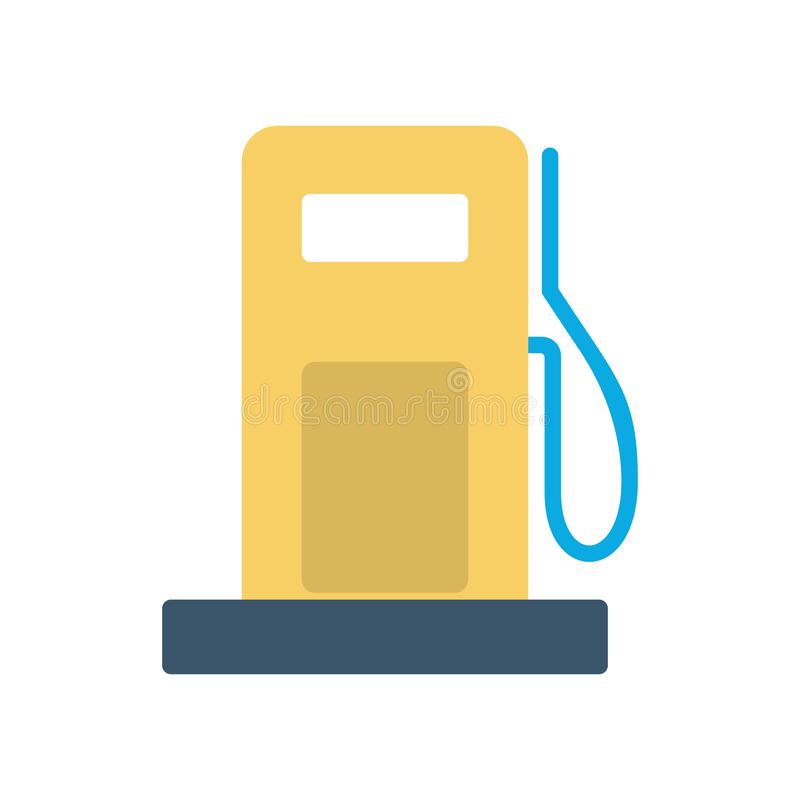 Petrol station icon. Symbol of benzine and fuel. Idea of transportation. Isolated vector illustration in flat style royalty free illustration