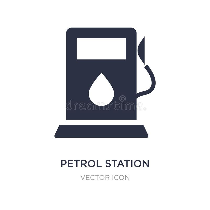 petrol station icon on white background. Simple element illustration from Transport concept stock illustration