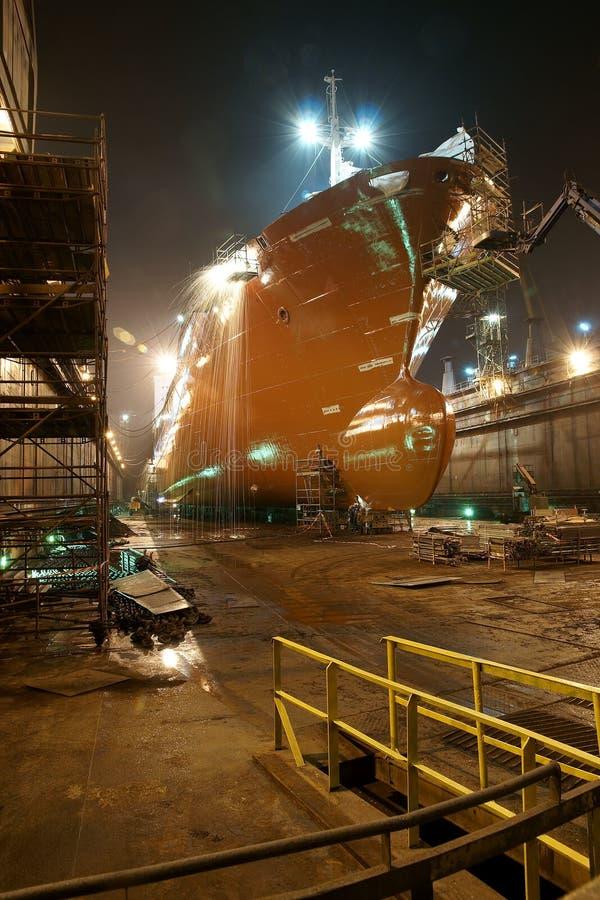 Petroleiro nas faíscas imagem de stock royalty free