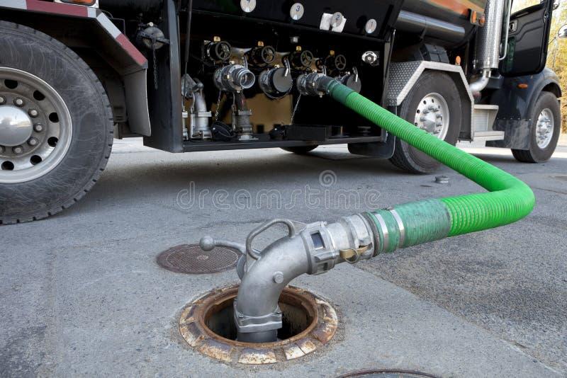 Petrolero de la salida del combustible imágenes de archivo libres de regalías