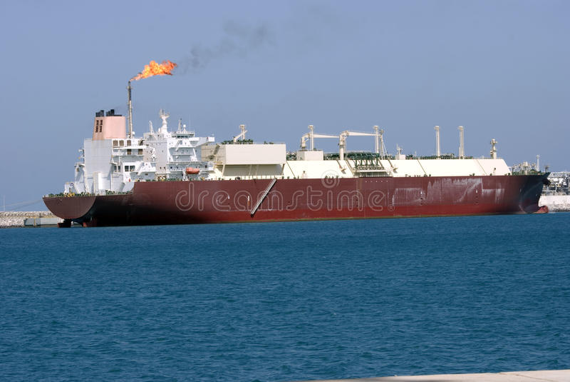 Petrolero enorme del gas foto de archivo libre de regalías