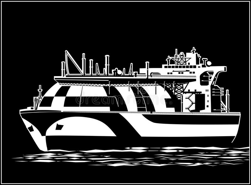 Petrolero grande del gas natural libre illustration