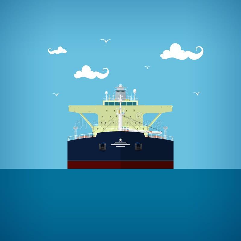 Petrolero, vista delantera de un petrolero stock de ilustración