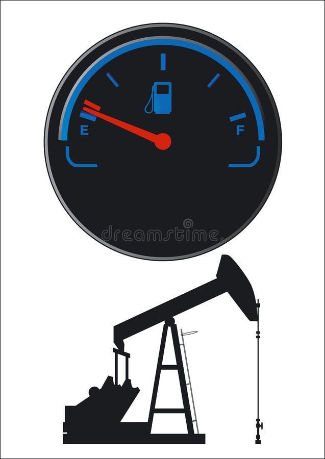 Download Petroleum fuel gauge stock vector. Image of transportation - 23760248