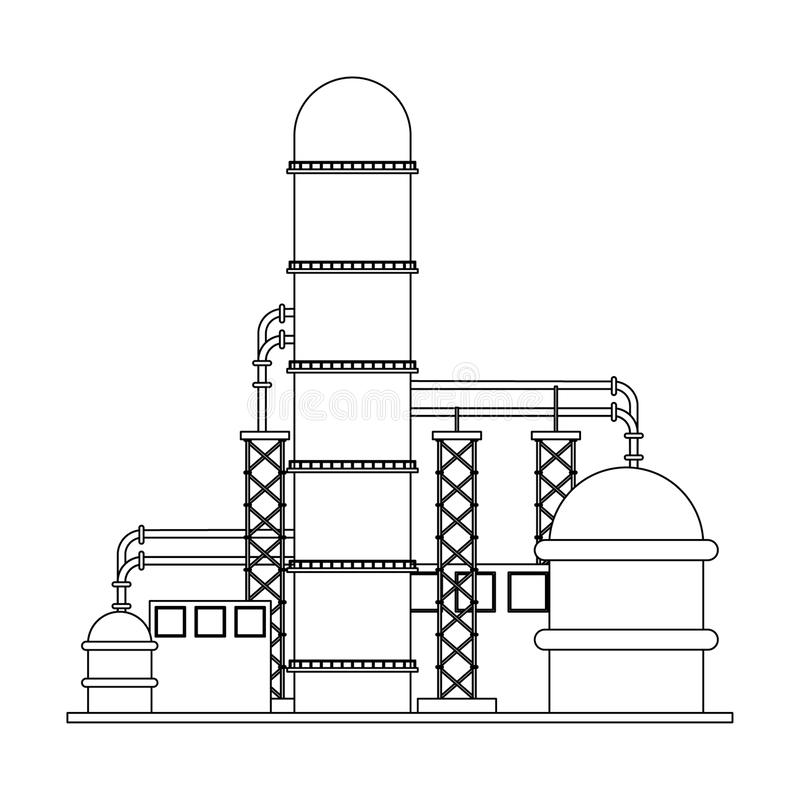 Oil Refinery Plant Stock Illustrations