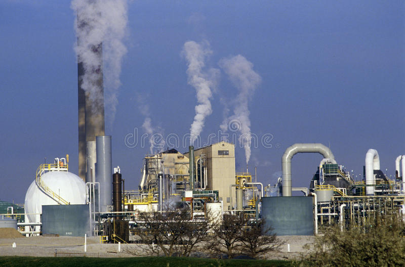 Petroleum Processing Plant at Sarnia, Canada royalty free stock photo
