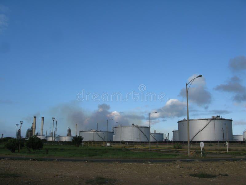 Oil refinery in Punto Fijo, Falcon State, Venezuela. Petroleum refinery, Paraguana Peninsule in Falcon state Venezuela royalty free stock photography