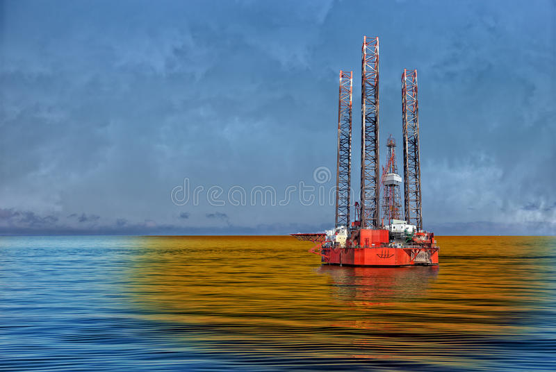 Petroleum spill royalty free stock images
