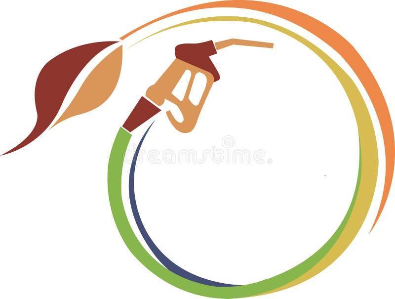 Petrolio del foglio illustrazione vettoriale