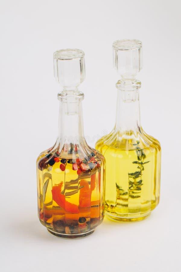 Petrolio e ingredienti alimentari fotografia stock