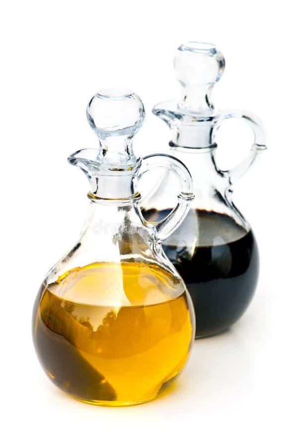 Petrolio ed aceto fotografia stock