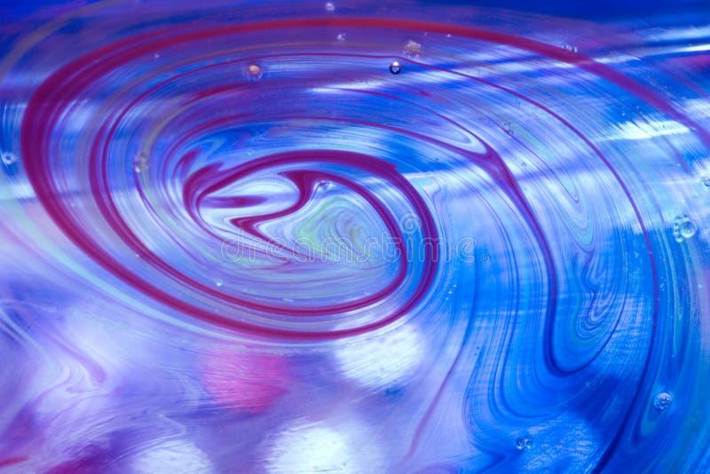 Petrolio ed acqua astratti di turbine fotografie stock libere da diritti