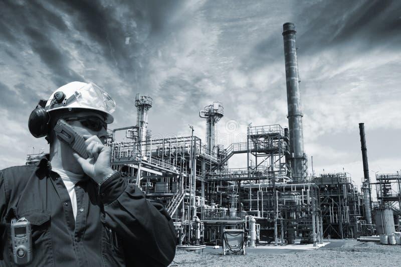Petrolio, gas e potenza dell'assistente tecnico fotografie stock libere da diritti