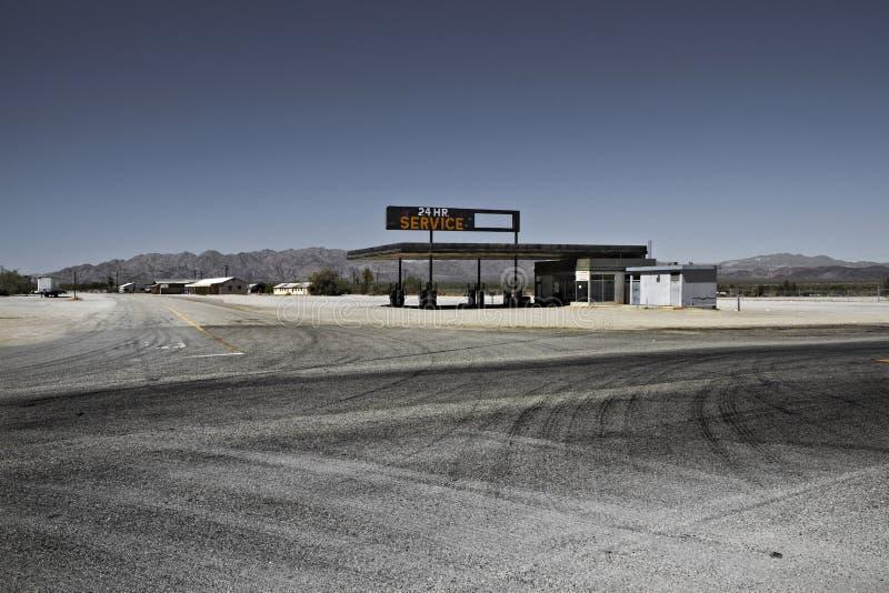 Petrolstation Tucson góry park, Arizona, zlani stany zdjęcie royalty free