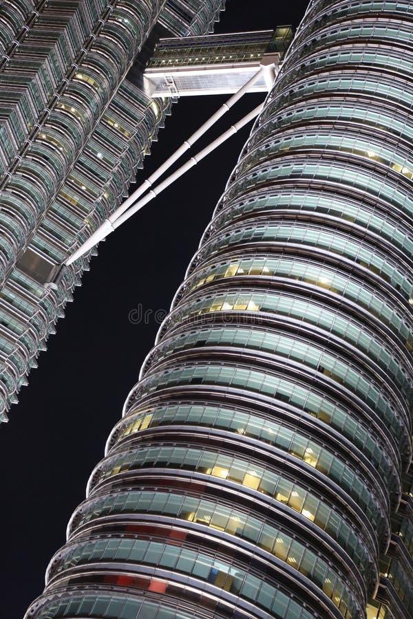 Petrona se eleva conexión de Kuala Lumpur Malaysia Skyway Walkway imagen de archivo