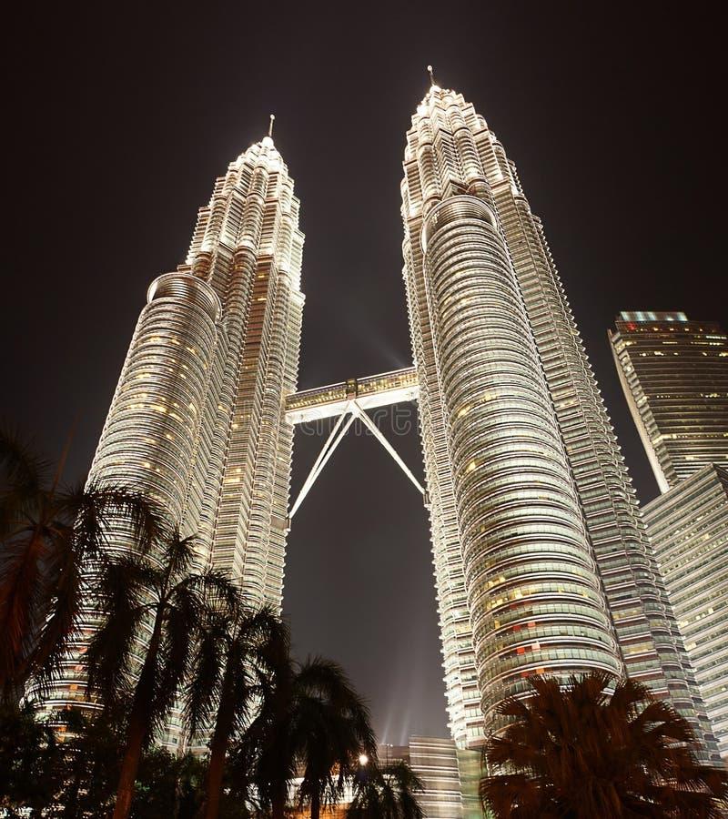 Petronas που χτίζει τη Κουάλα Λουμπούρ στοκ φωτογραφία