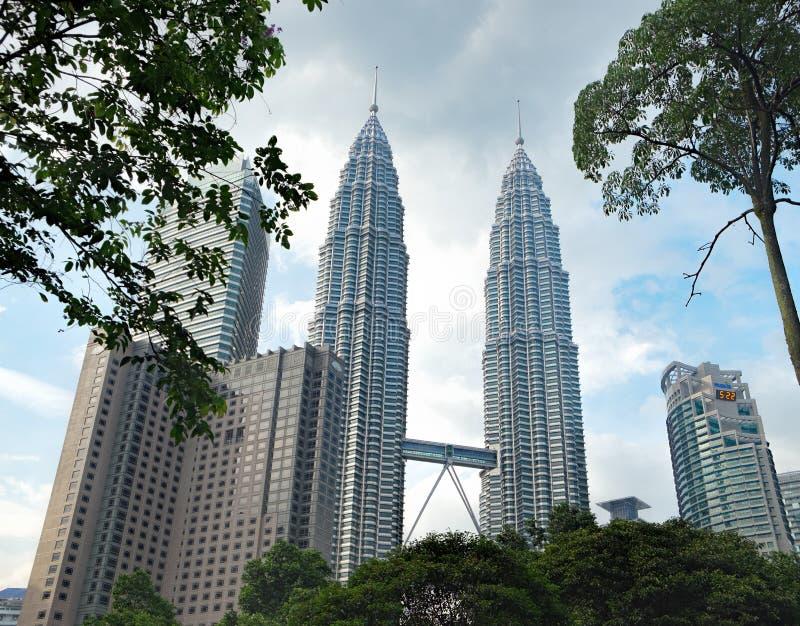 Petronas bliźniacze wieże w Kuala Lumpur, Malezja zdjęcie stock