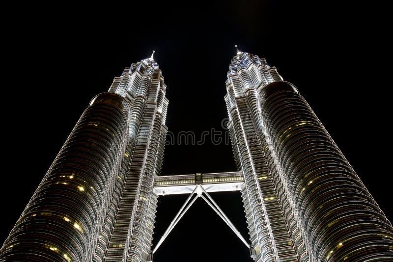 Petronas-Kontrolltürme stockfotos