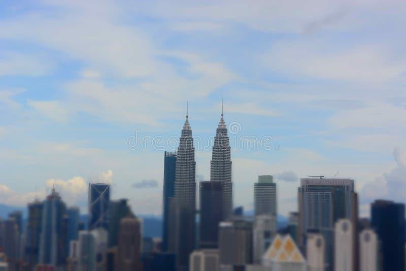 Petronas ragt Kuala Lumpur hoch stockfotografie
