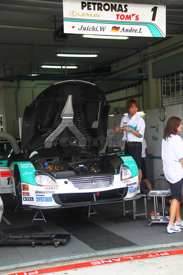 Download Petronas TOM Lexus Garrage, SuperGT 2010 Editorial Stock Photo - Image: 14822368