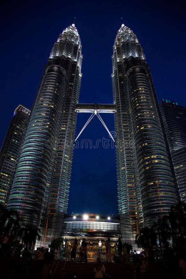 Petronas Towers, also known as the Petronas Twin Towers, KLCC are twin skyscrapers royalty free stock image