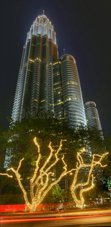 Petronas twin tower stock photos