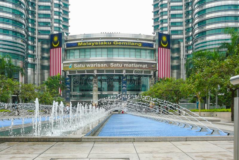 Petronas towers entrance Kuala Lumpur royalty free stock photo