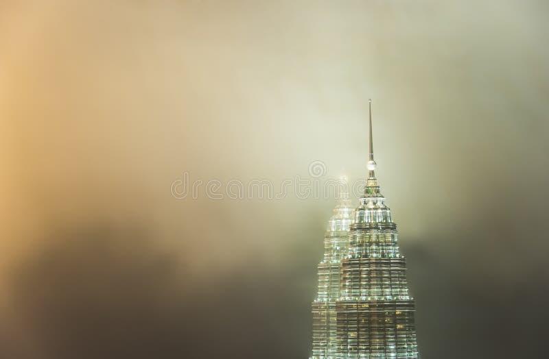 Petronas Towers(Twin Tower) In Cloud Stock Photos