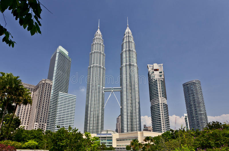 Petronas Towers at Kuala Lumpur, Malaysia royalty free stock images
