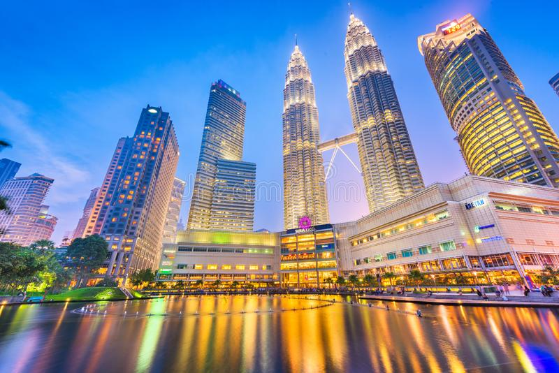 The Petronas Towers stock photography