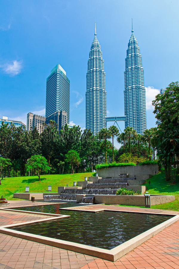 Free Petronas Towers Surrounded By Tropical And Rain Forest Stock Image - 161258721