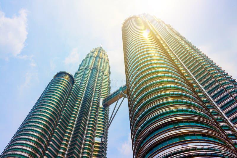 Petronas tvillingbr?der i Kuala Lumpur, Malaysia royaltyfria bilder