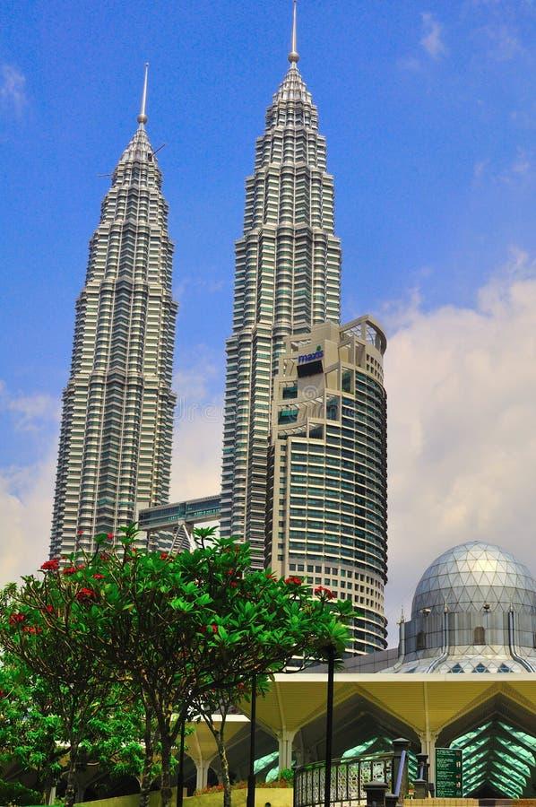 Petronas twin tower stock image
