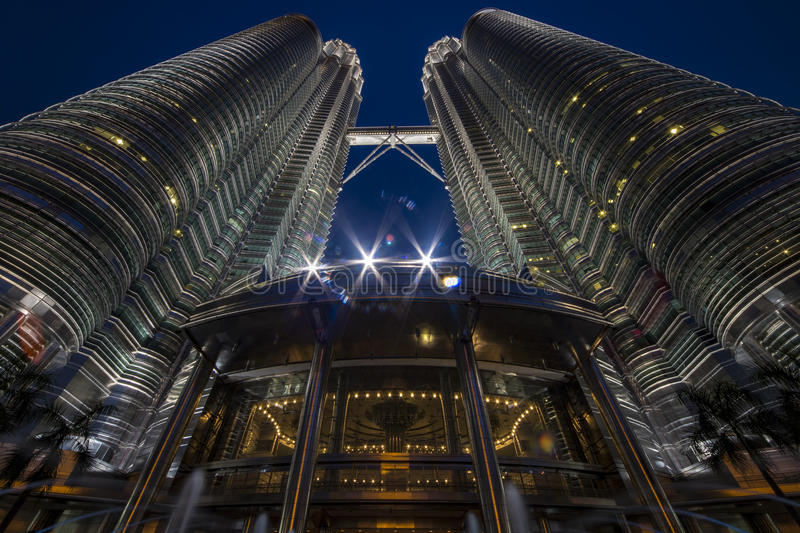 Petronas twin Tower at Blue hours time royalty free stock photography