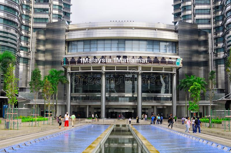 Petronas twin tower centre building royalty free stock photography