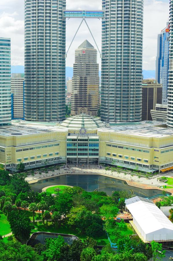 Petronas twin tower centre building royalty free stock photo