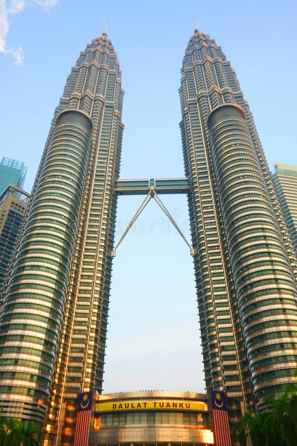 Petronas Twin Tower at dawn stock images