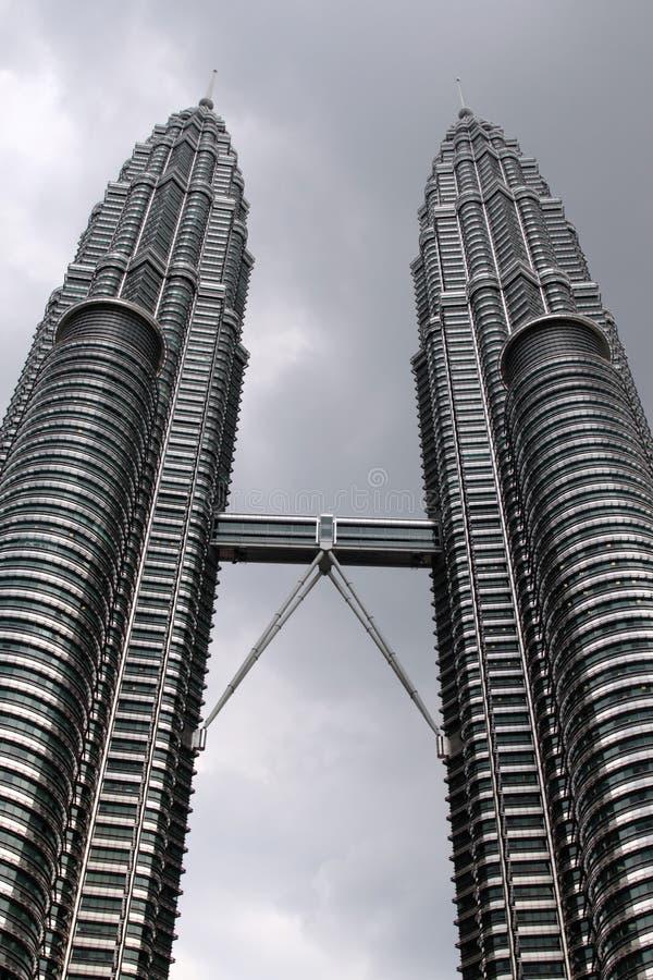 Petronas-Twin Tower, Kuala Lumpur stockfotos
