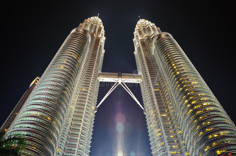 Petronas-Twin Tower Kuala Lumpur stockbilder