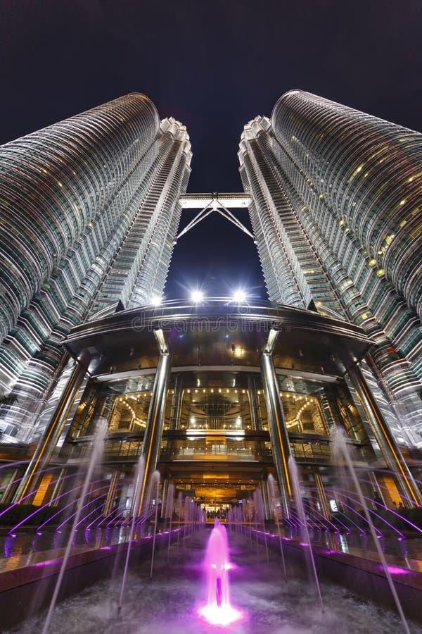 Petronas Twin Towers at Night, Kuala Lumpur stock photo
