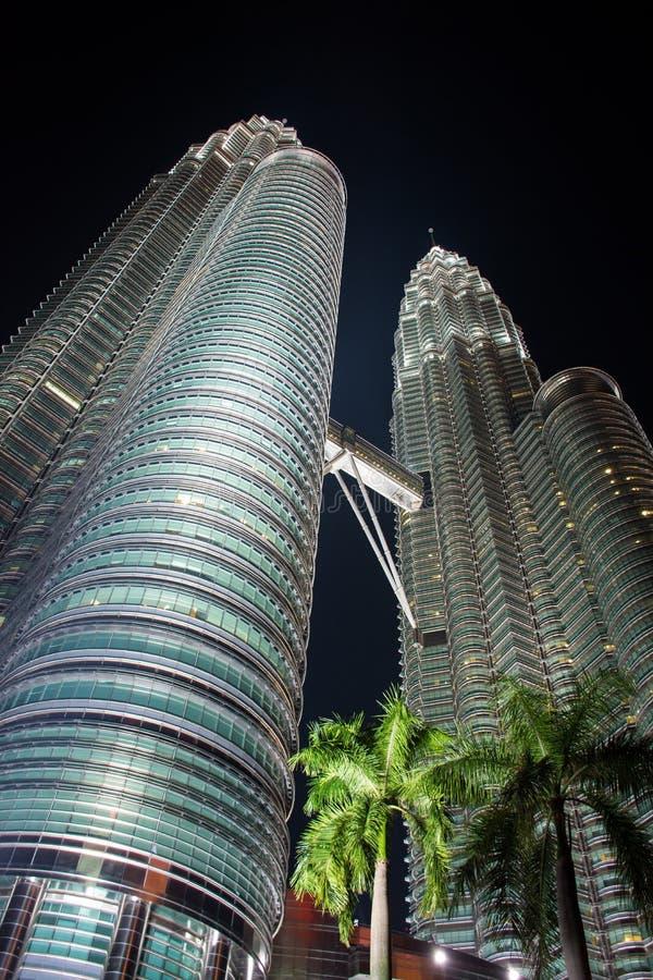 Petronas twin towers noc zdjęcia stock