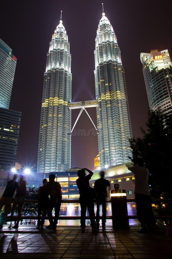 Petronastorens, Tweelingtorens van Kuala Lumpur, Maleisië royalty-vrije stock foto