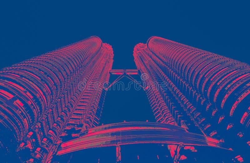 Petronatorens in KL Maleisië stock afbeeldingen