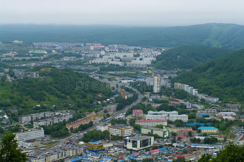 Petropavlovsk-Kamchatsky, Far east, Russia. City landscape stock images