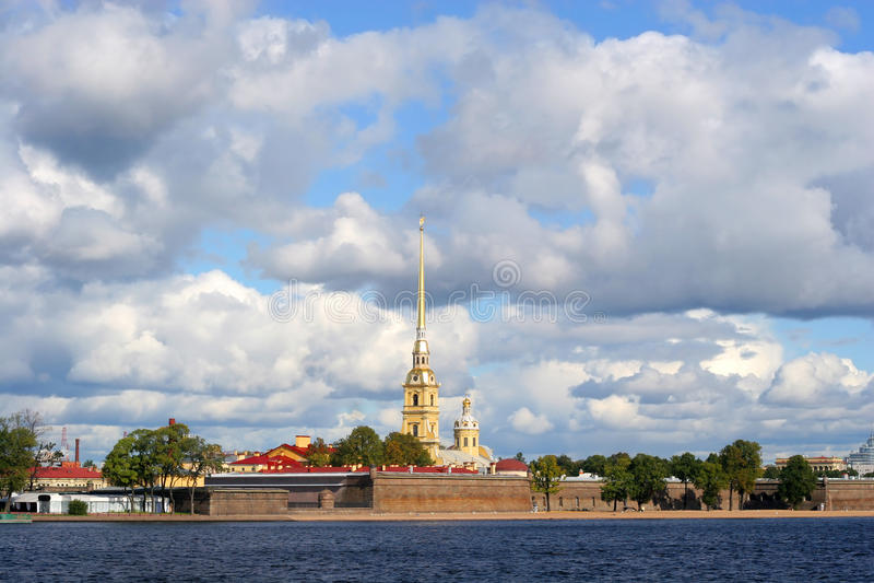 Petropavlovskaya Festung stockfoto