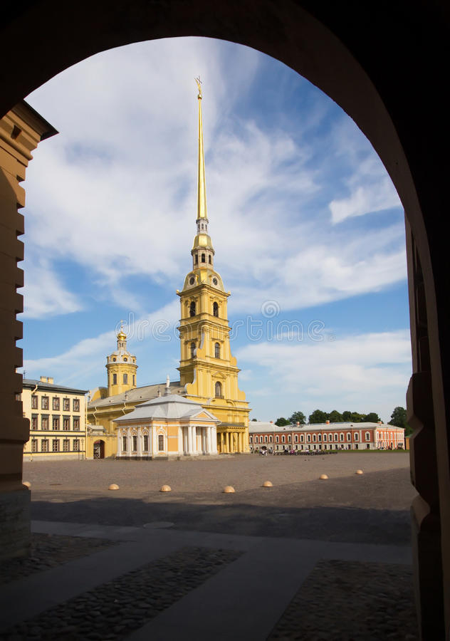 Petropavlovskaya-Festung lizenzfreie stockfotos