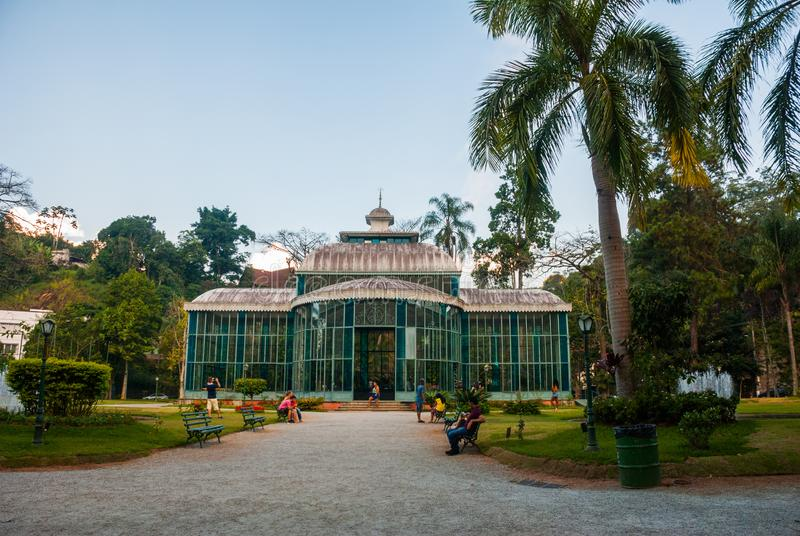 Petropolis, Brazil: The Crystal Palace is a glass-and-steel structure which was built in 1884 for the Crown Princess Isabel as a. Petropolis, Brazil, Rio de stock photos