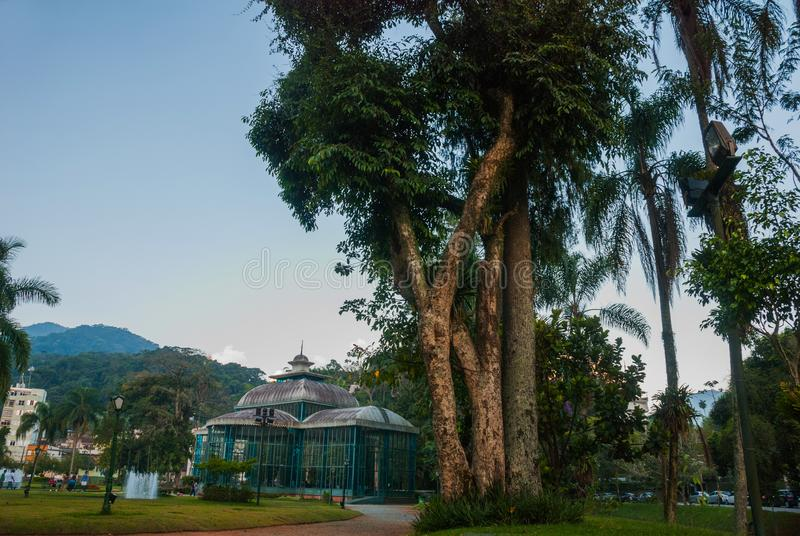 Petropolis, Brazil: The Crystal Palace is a glass-and-steel structure which was built in 1884 for the Crown Princess Isabel as a. Petropolis, Brazil, Rio de stock images
