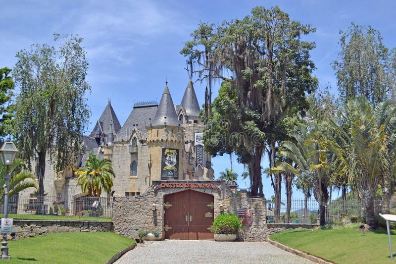 Petropolis, Rio de janeiro/Brasil 22 DE FEVEREIRO DE 2019: Castelo de Itaipava fotos de stock royalty free