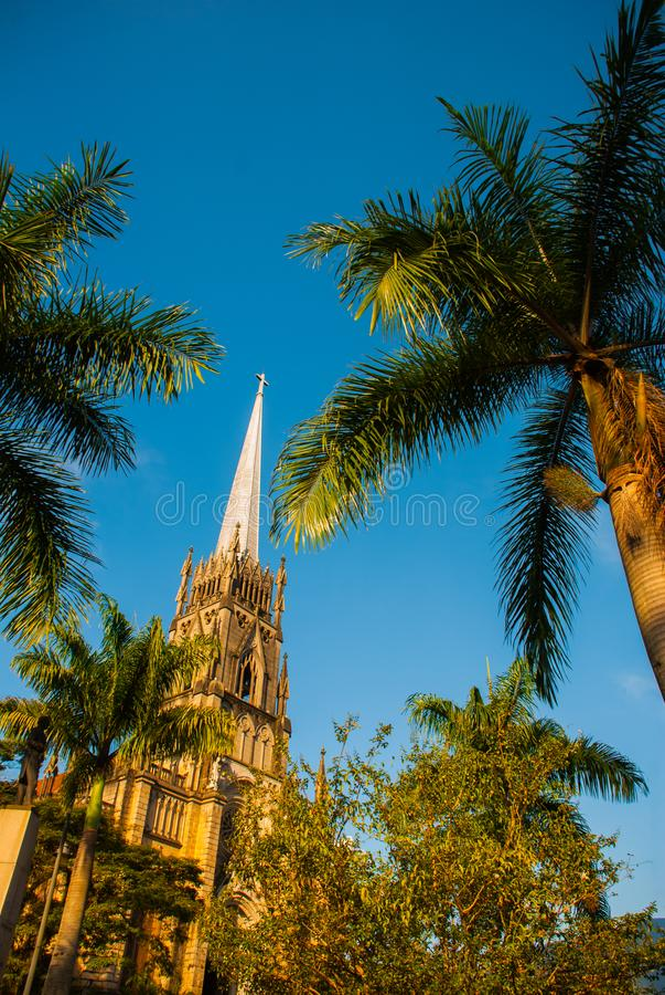 PETROPOLIS, RIO DE JANEIRO, BRAZYLIA: Katedra Petropolis ko?cielny Croatia makarska Peter kurortu st Neogothic Katolicka katedra  obrazy royalty free